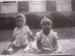 Josephe and Josephine Stephens as babies  (twins)