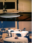 Before and after picture of the preparations of the hall 'Expo Dinner' 2010 dinner event.
