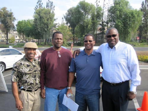 Mel Gatson, Mike Bartee, Paul Boykin, and Dusty Baker. Dusty's dedication.
