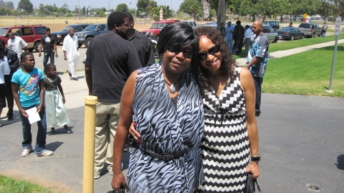 Sisters, Gloria Edwards and Emma Brown(Edwards) May 2009