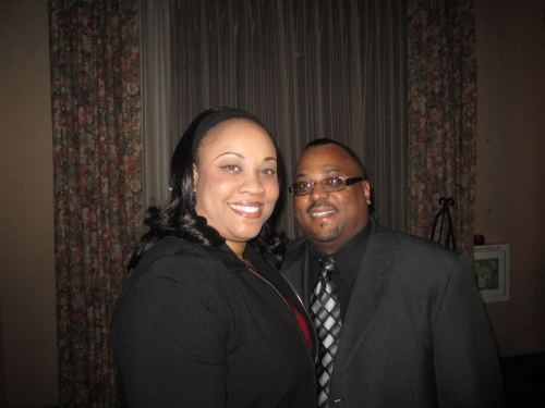 Minister Kirste Hurd(Cross  Word Christian Church)and Anthony Hurd