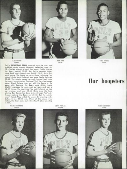 #32(middle picture) is Bob Rule.After high school, Rule played on Riverside City College's first state championship tea