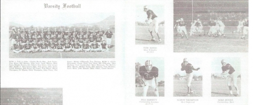1963 Rubidoux High School Varsity Football Team.The football player in the top left picture is Tom Hayes.He later was a