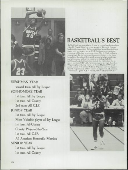 #20 is James McCloud,one of North High School's greatest basketball players during the era of the 70's.He later played