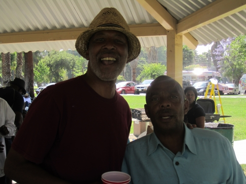 Gary Haynes and Jimmy Ball at The Family Affair picnic.