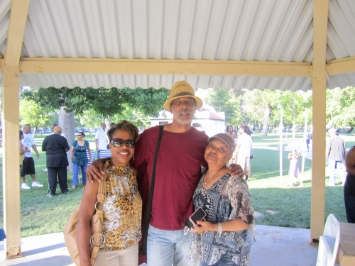 Geraldine Nezart, Gary Haynes, and Jeri Ball at the Family Affair picnic