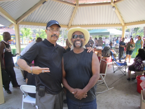 Michael Nezart and Timmy Flanagan at the Family Affair picnic