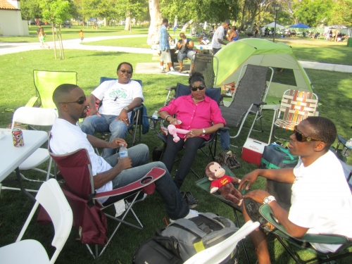 The Reed Family, Carlton, Joyce,Carlton Jr, and Aaron at the Family Affair picnic
