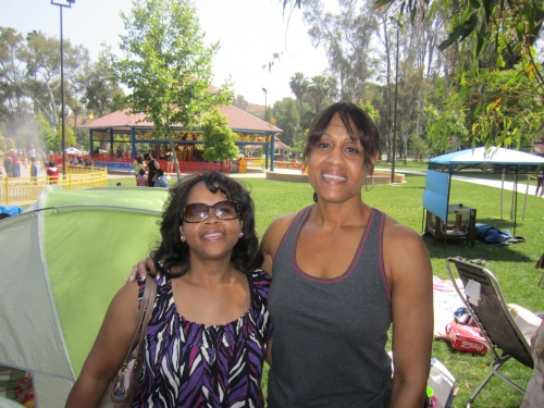 Charlotte White and Letha Hill at the Family Affair picnic