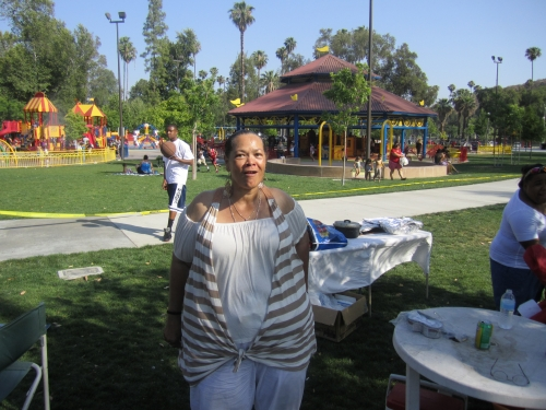June Baxter at the Family Affair Picnic