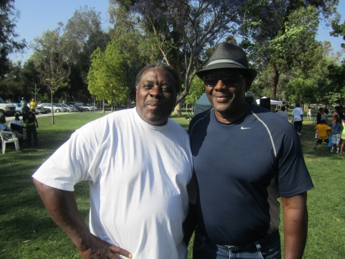 Darnell Williams and Jeff Hill at the Family Affair picnic