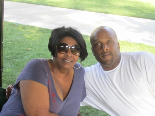 Margaret Ball and her nephew, Dermaine Ball at the Family Affair picnic