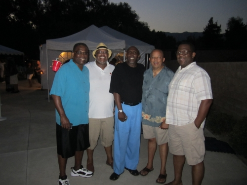 Mark Mathews, James Mathews,Frank Mathews, Manfred Clemons, and Mike Bartee