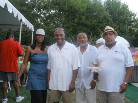 Margie Mathews, Phil Mathews, Ronnie Bradford, and James Mathews