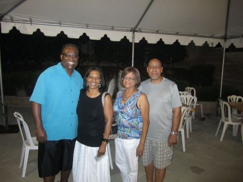 Mark Mathews, Gail Mathews, Rhonda and Marty Winfield