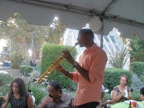 JBoykin on the Soprano sax  at the Grown Folks Soiree