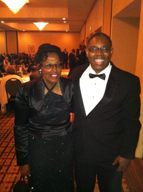 Ola Faye Stephens and son Marcus at the Kappa affair